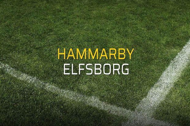 Hammarby - Elfsborg maçı istatistikleri