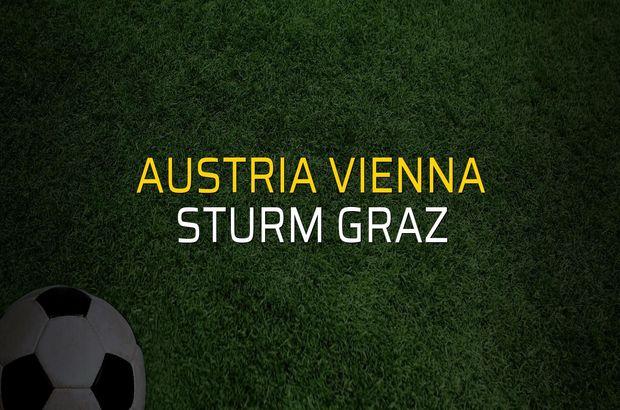 Austria Vienna - Sturm Graz maçı rakamları