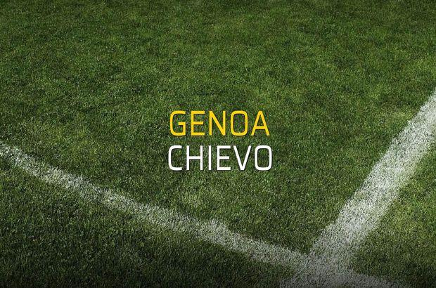 Genoa - Chievo maçı rakamları