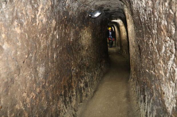 Yozgat'ın gizli yer altı şehrine girildi
