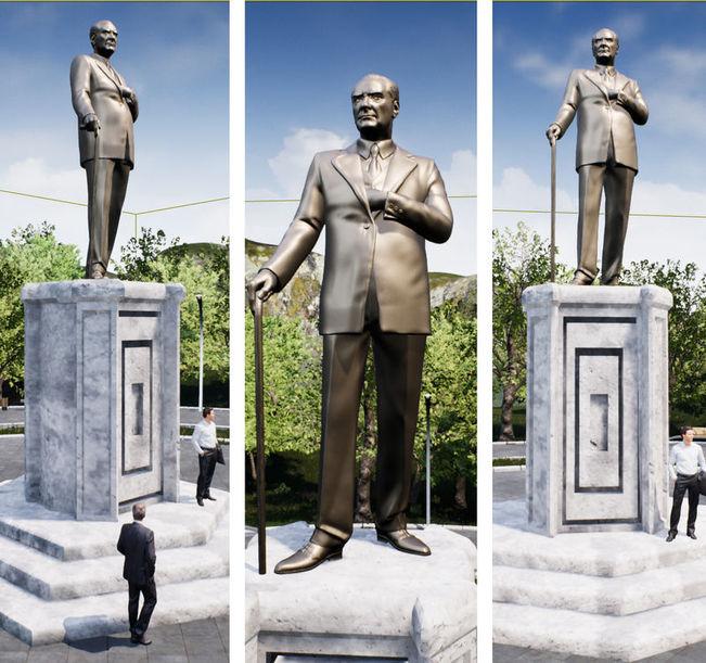 Çamlık Tepesi'ne yeni Atatürk heykeli dikilecek...