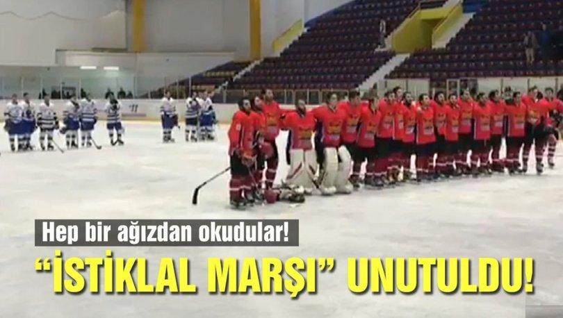 """Buz Hokeyi Kupası'nda """"İstiklal Marşı"""" skandalı ile ilgili görsel sonucu"""