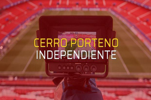 Cerro Porteno - Independiente sahaya çıkıyor