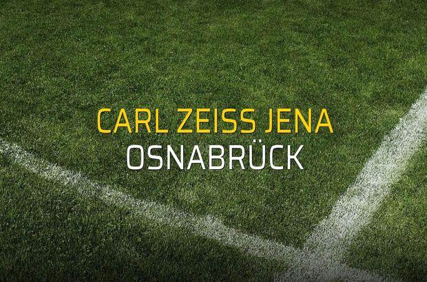 Carl Zeiss Jena - Osnabrück karşılaşma önü