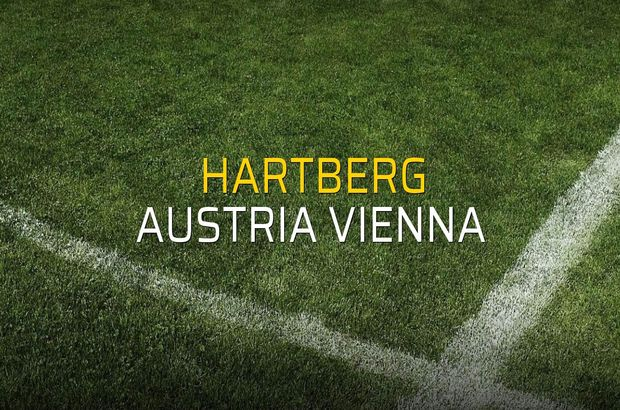 Hartberg - Austria Vienna maçı heyecanı