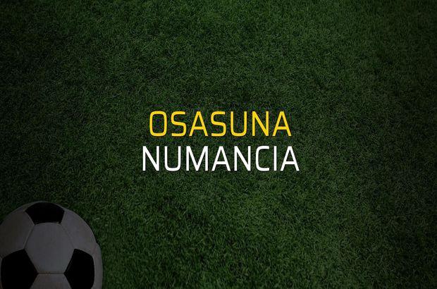 Osasuna - Numancia karşılaşma önü