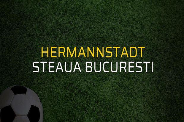 Hermannstadt - Steaua Bucuresti sahaya çıkıyor
