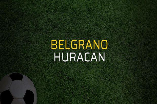Belgrano - Huracan maçı rakamları