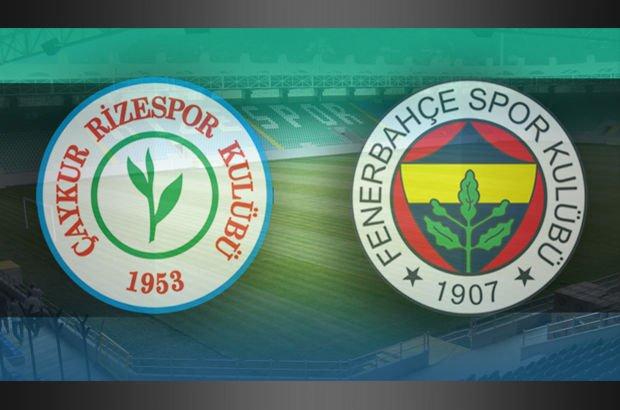 Rizespor Fenerbahçe maçı
