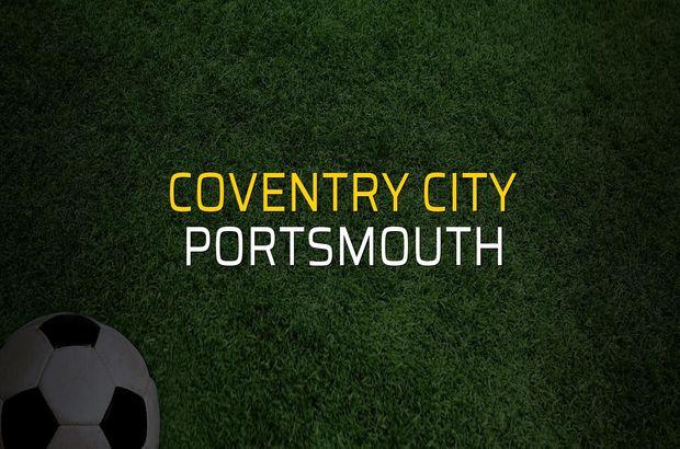 Coventry City - Portsmouth maçı rakamları