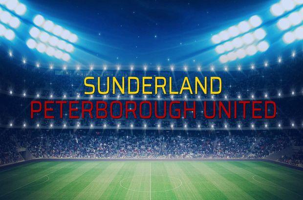 Sunderland - Peterborough United maçı rakamları