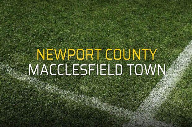 Newport County - Macclesfield Town maçı heyecanı