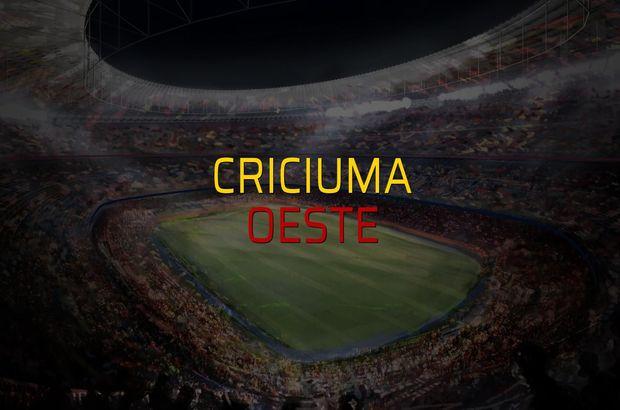 Criciuma - Oeste maç önü