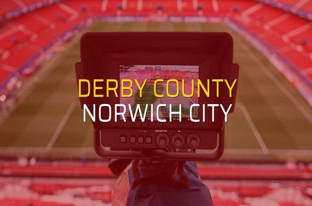 Derby County - Norwich City maçı rakamları