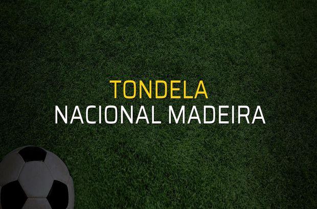 Tondela - Nacional Madeira maçı rakamları