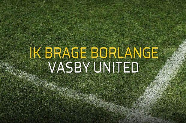IK Brage Borlange - Vasby United sahaya çıkıyor