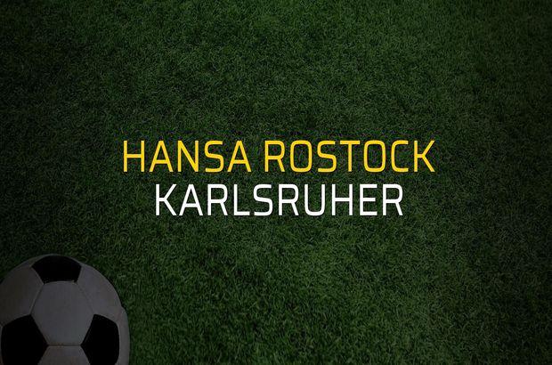 Hansa Rostock - Karlsruher maçı istatistikleri