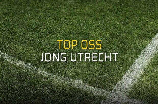Top Oss - Jong Utrecht rakamlar