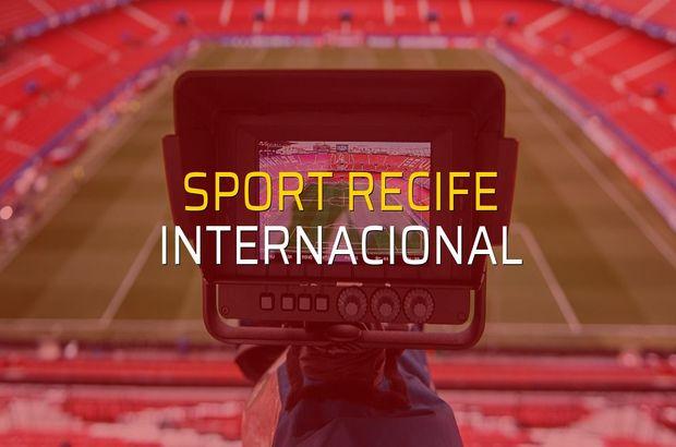 Sport Recife - Internacional sahaya çıkıyor