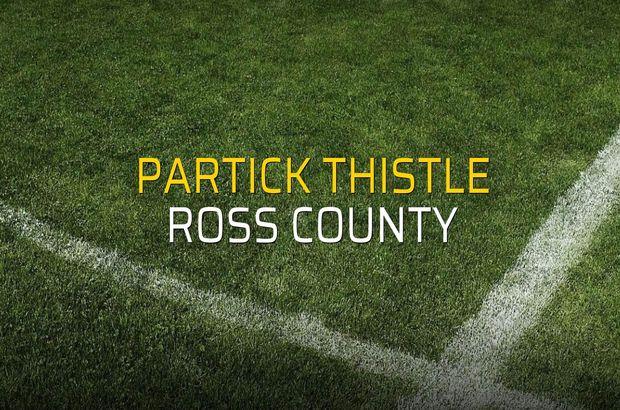 Partick Thistle - Ross County maç önü