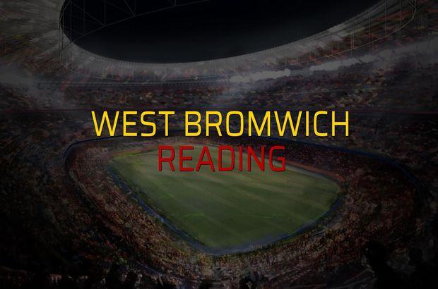 West Bromwich - Reading maçı ne zaman?