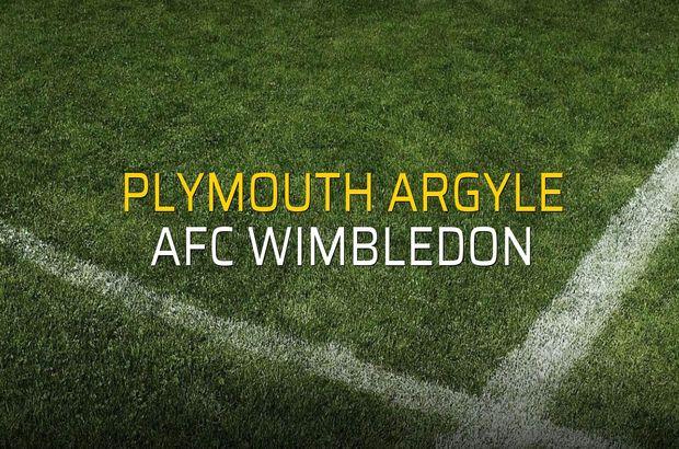 Plymouth Argyle - AFC Wimbledon maçı heyecanı