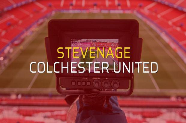 Stevenage - Colchester United maçı heyecanı
