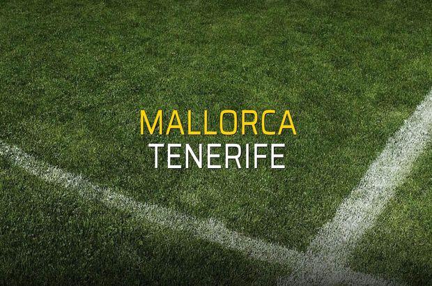 Mallorca - Tenerife maçı istatistikleri