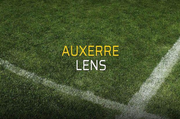 Auxerre - Lens maç önü