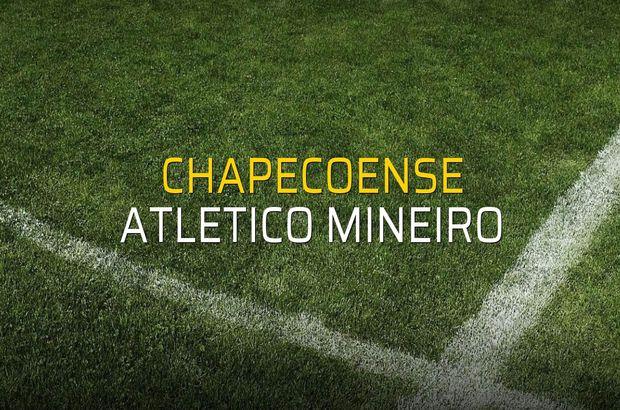 Chapecoense - Atletico Mineiro maçı istatistikleri