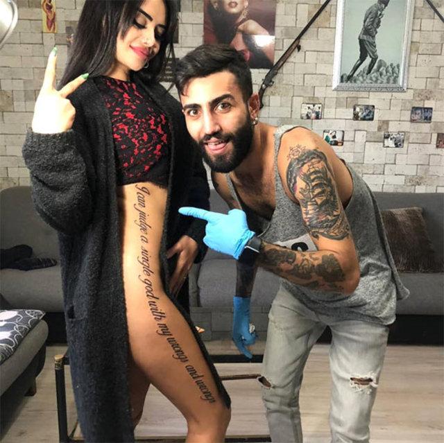 Naz Mila'nın dövmesi olay oldu - Magazin haberleri