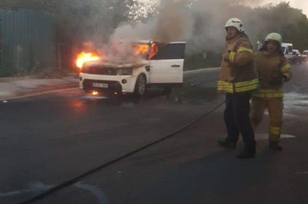 araçta yangın çıktı
