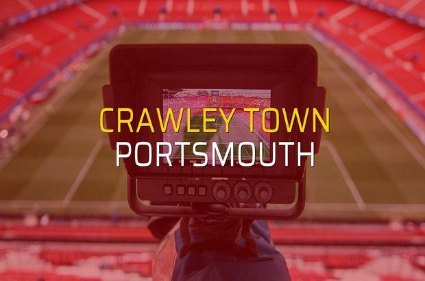Crawley Town - Portsmouth maç önü