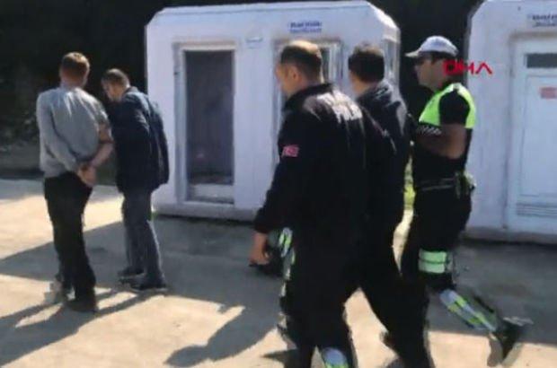 Polise direnince kelepçelendi