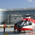 O şehir hastanesine hava ambulans hizmeti başladı