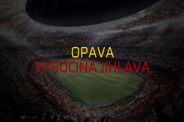 Opava: 1 - Vysocina Jihlava: 0 (Maç sonucu)