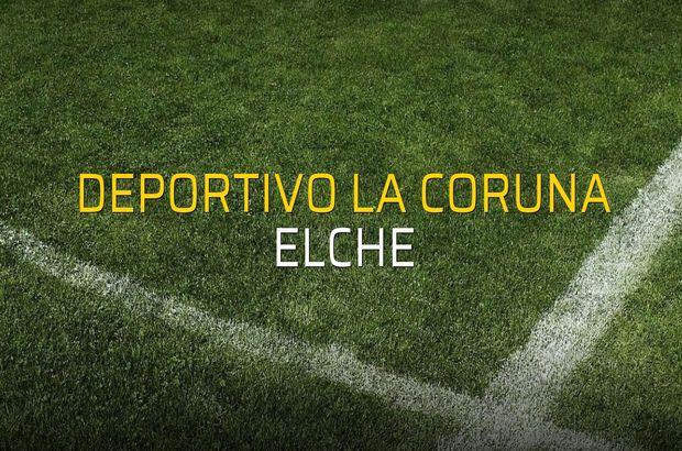 Maç sona erdi: Deportivo La Coruna: 4 - Elche:0