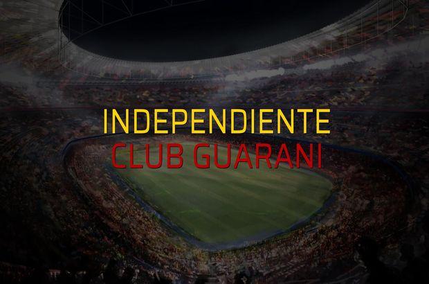 Independiente: 1 - Club Guarani: 0