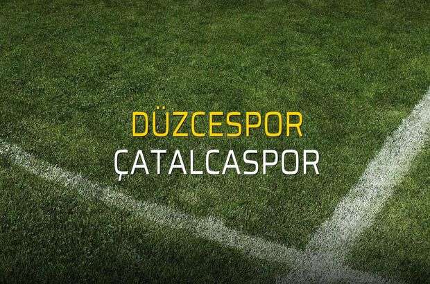 Maç sona erdi: Düzcespor: 0 - Çatalcaspor:0