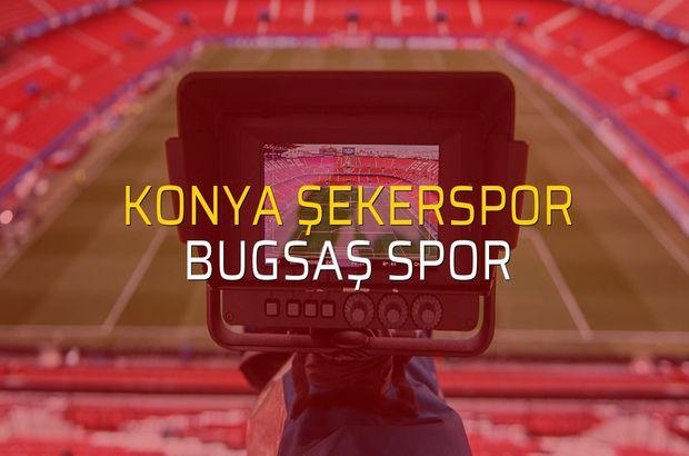 Konya Şekerspor: 1 - Bugsaş Spor: 2 (Maç sonucu)