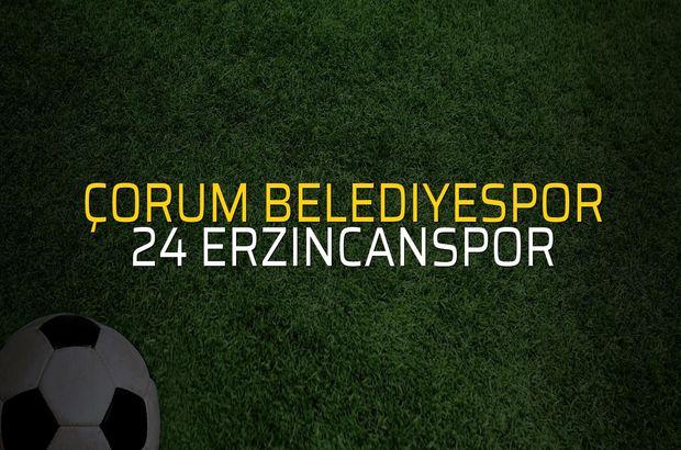 Çorum Belediyespor: 2 - 24 Erzincanspor: 1