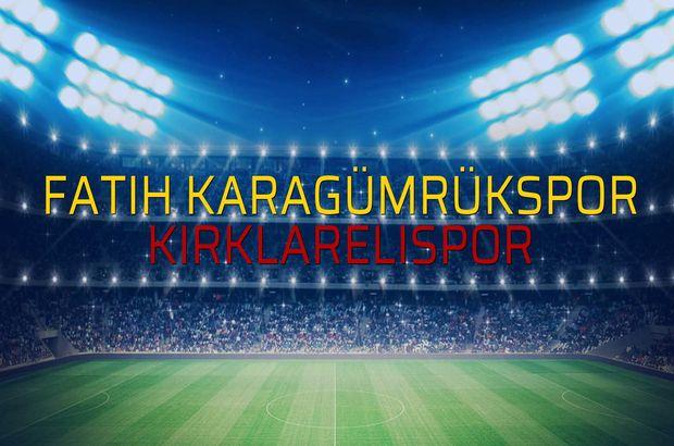 Fatih Karagümrükspor: 1 - Kırklarelispor: 0 (Maç sona erdi)