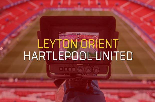 Leyton Orient: 0 - Hartlepool United: 0