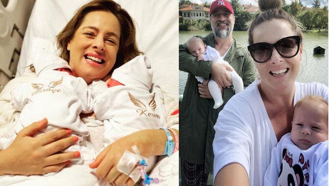Kerimcan Kamal'ın eşi Doğa Rutkay ikizlerinin yüzünü ilk kez gösterdi - Magazin haberleri
