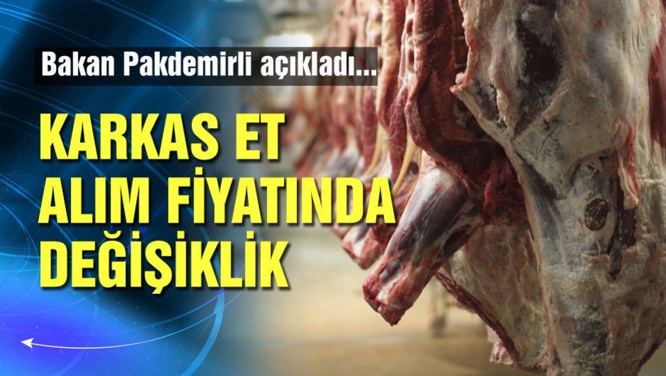 Karkas et alım fiyatlarında değişiklik