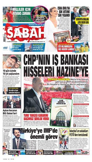 Günün gazete manşetleri (14 Ekim 2018)