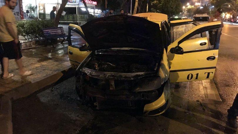 taksi yangını