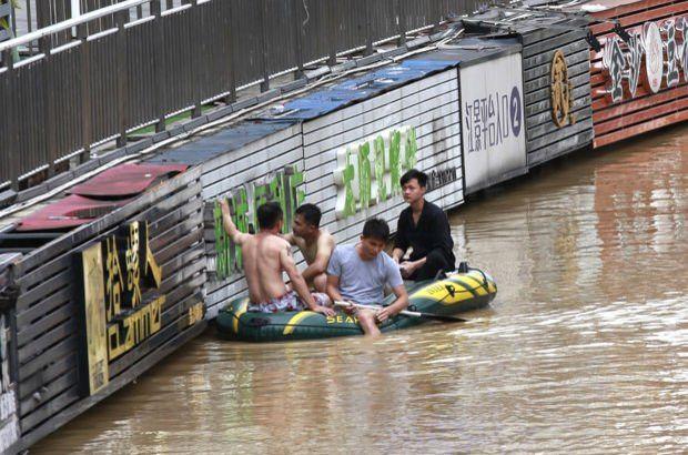 Çin'de sel