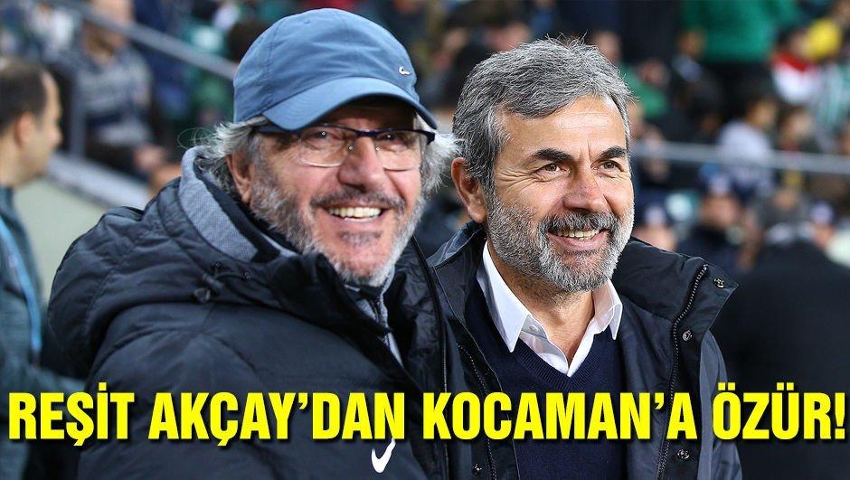 Reşit Akçay, Kocaman'dan özür diledi!