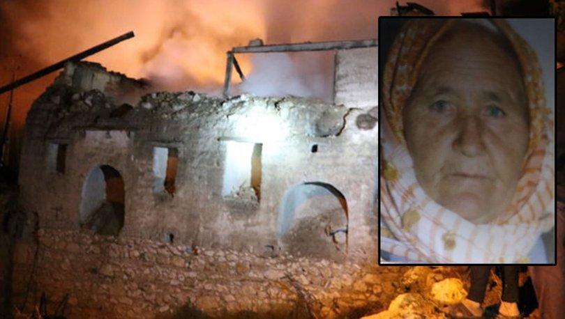 Evinde yangın çıkan yaşlı kadın hayatını kaybetti
